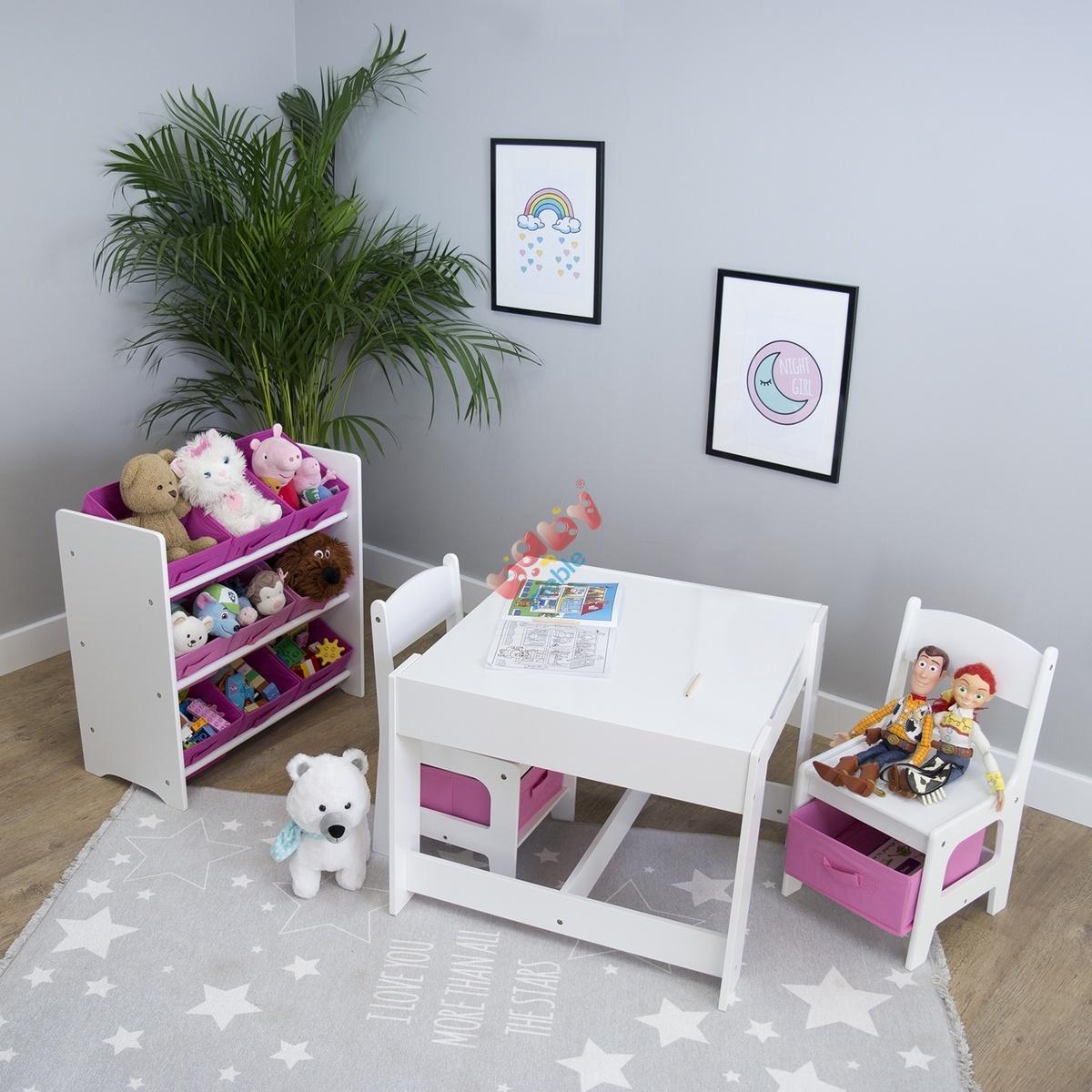 Ourbaby Stolik Dziecięcy Dla Dziewczynek Stoliki I Krzesła