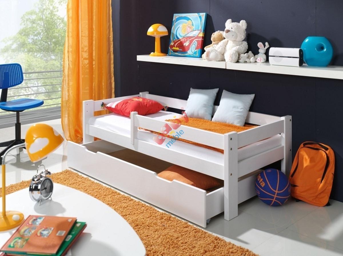 łóżko Dla Dziecka Z Barierką Białe łóżka Z Barierką Babymeblepl