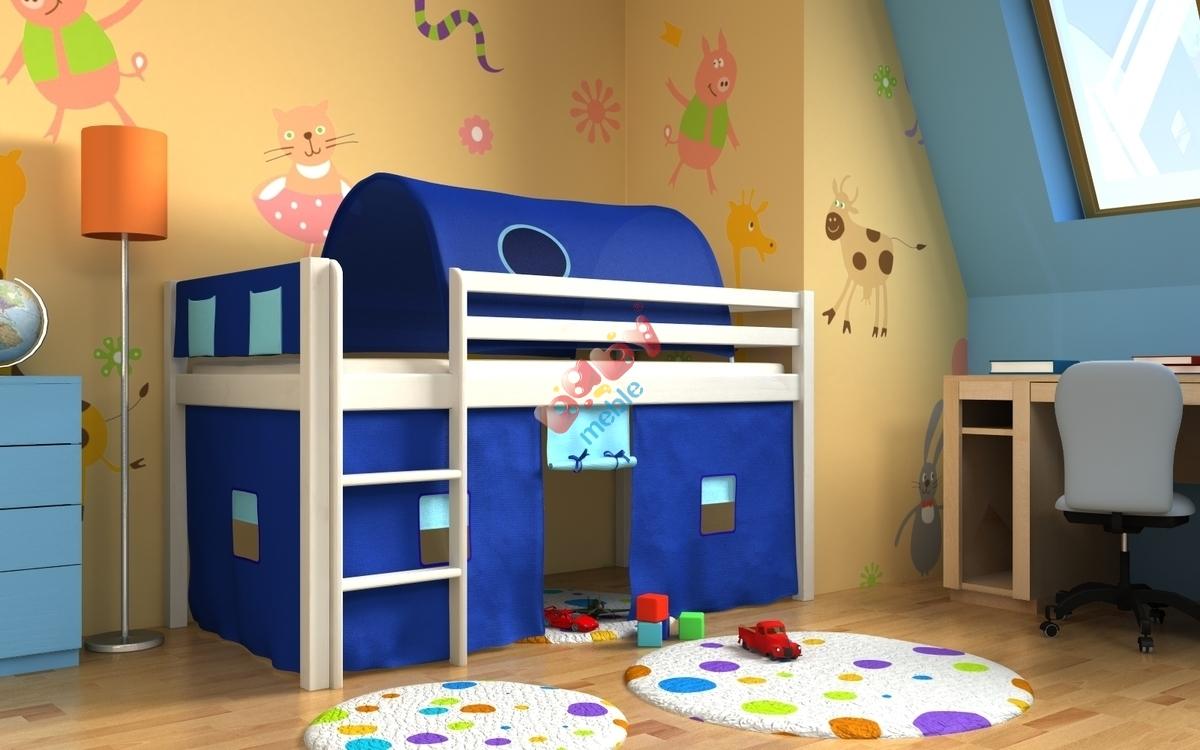 łóżko Gabi Z Tunelem I Schowkami Białe łóżka Antresole