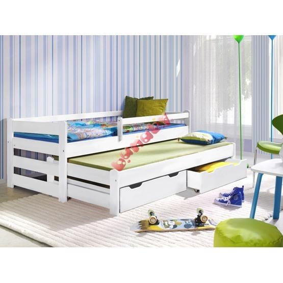 łóżko Dwupoziomowe Doplo Białe łóżka Podwójne Wysuwane