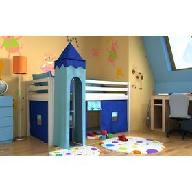 łóżko Dla Dzieci Gabi Ze Zjeżdżalnią Iglo I Organizerami