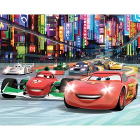 Tapeta 3D Disney Auta II, Walltastic, Cars