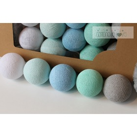 Cotton balls - Mint pastel
